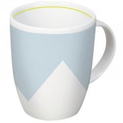 Pure Life - blaue Porzellan-Tasse