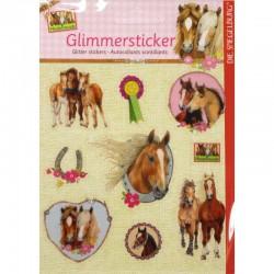Pferdefreunde - Glimmersticker