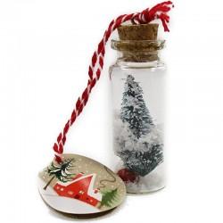 Frohe Weihnacht überall Weihnachten im Glas