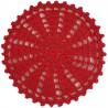 Untersetzer rot - rund