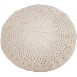 Tischdecke weiss - rund