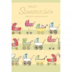 Baby Karte Hallo Sonnenschein
