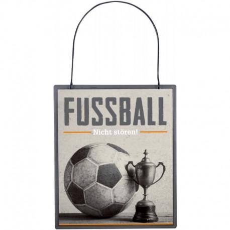 Was Mann braucht - Metallschild Fussball NICHT STÖREN!
