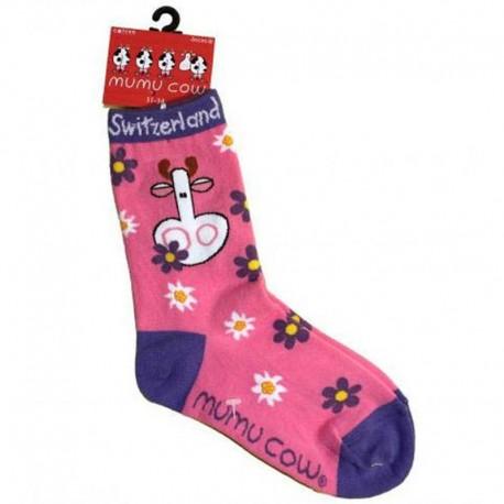 Mumu Cow - Kinder Socken pink