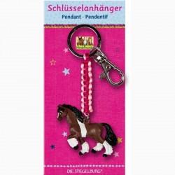 Pferdefreunde - Schlüsselanhänger Pferd dunkelbraun