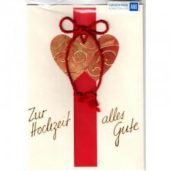 Hochzeitskarte Herzen Handmade
