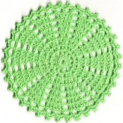 Untersetzer gehäkelt grün - rund