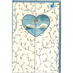 Hochzeitskarte Schwanen Herz