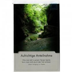 Trauerkarte Wald Bach
