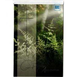 Trauerkarte Waldgräser Nebel