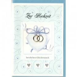 Hochzeitskarte Ringe Hochzeitstauben