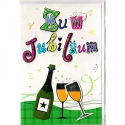 Jubiläumskarte Champagner 3D