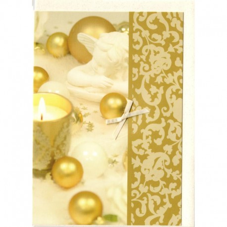 Blankokarte Engel Weihnachtskugeln