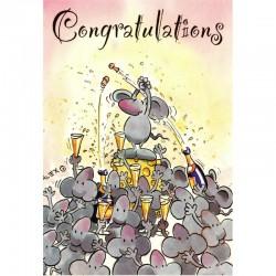 Postkarte Congratulations Mäuse