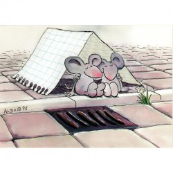 Postkarte Mäuse Alex