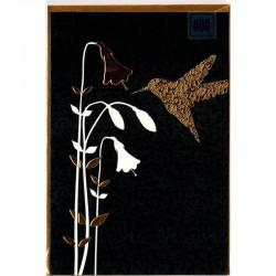 Blankokarte Kolibri Gold