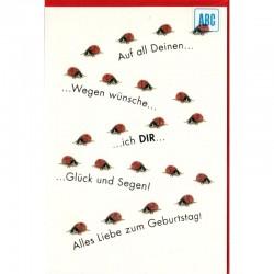 Geburtstagskarte Marienkäfer
