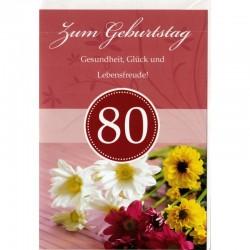 Geburtstagskarte 80 Blumen
