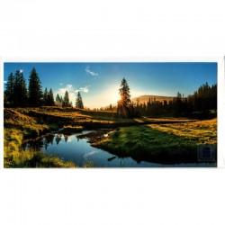 Blankokarte Natur Sonnenuntergang
