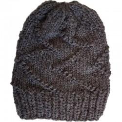 Mütze gestrickt braun/taupe