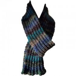 Schal Handgestrickt blau/grün