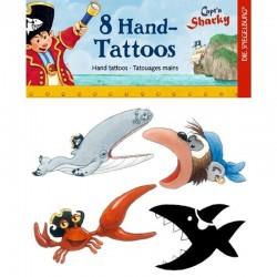 Capt'n Sharky Hand Tattoos