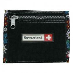 Brieftasche Alpenblumen schwarz