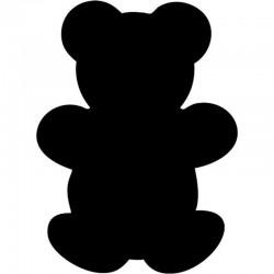 Kreidetafel - Silhouette Bear